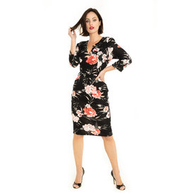 Miss. Lulo Tabitha Floral Knit Dress