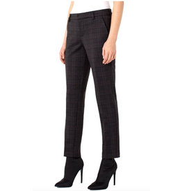 Liverpool Kelsey Knit Trouser in Grey Black Plaid
