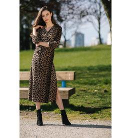 Papillon Carol Wrap Dress in Leopard