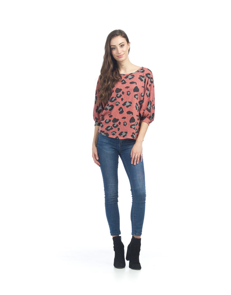 Papillon Amber- Leopard Cropped Sweater