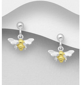 Sterling Gold and Silver Bee Drops