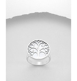 Sterling Ring- MOP Tree/ Adjustable