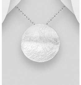 Sterling Necklace- Silver Circle