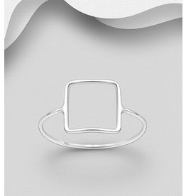 Sterling Sterling Ring- Square
