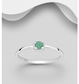 Sterling Sterling Ring-Small Gemstone (More styles)