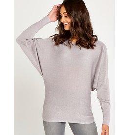 Apricot Poppy- Lurex Batwing Sweater