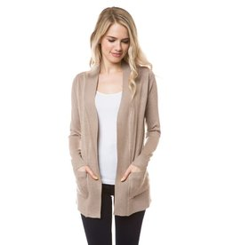 Cielo Audrey- Open Cardigan in Camel
