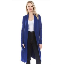 Cielo Avery- Long Cardigan in Royal Blue