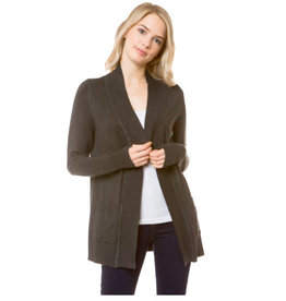 Cielo Audrey- Open Cardigan in Charcoal Gray