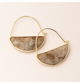 Scout Stone Prism Hoop Earring Fossil Coral/Gold