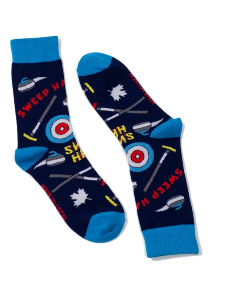Main and Local Canadian Curling Socks
