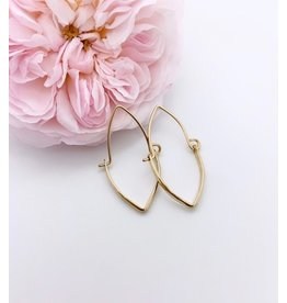 Cristy's Small Gold Hinged Pointed Hoops