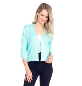 Cielo Nicki- Bolero Cardigan in Dark Mint