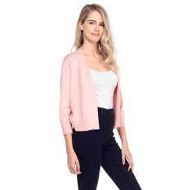 Cielo Nicki- Bolero Cardigan in Dusty Pink
