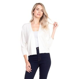 Cielo Nicki- Bolero Cardigan in White