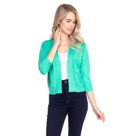 Cielo Nicki- Bolero Cardigan in Green