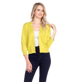 Cielo Nicki- Bolero Cardigan in Lime