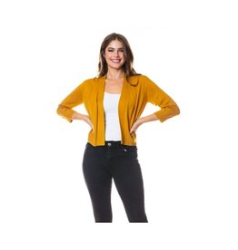 Cielo Nicki- Bolero Cardigan in Mustard