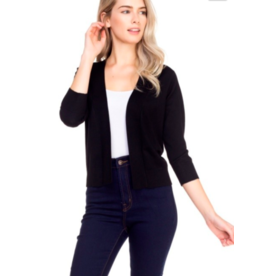 Cielo Nicki- Bolero Cardigan in Black