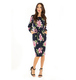 Miss. Lulo Frances- Floral Knit Dress