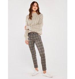 Apricot Jacquard Trousers