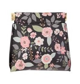 Karma Coin Purse Charcoal Flowers