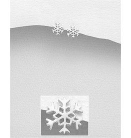 Sterling Studs:  Snowflake