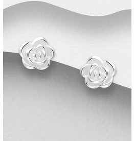 Sterling Studs- Roses