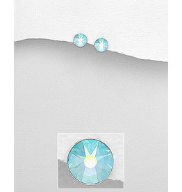 Sterling Small Swavorski Crystal Studs (More Colours)