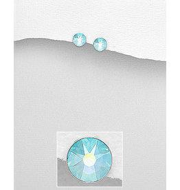 Sterling Small Swavorski Crystal Studs