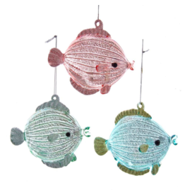 Kurt Adler Glass Fish Ornament