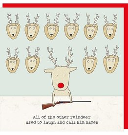 Rosie Made a Thing Card-Rudolph, other reindeer
