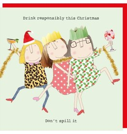 Rosie Made a Thing Cards-Rosie-Xmas  Drink Responsibly