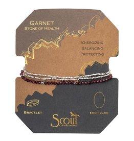 Scout Delicate Stone Necklace/Bracelet -garnet/silver