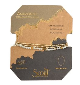 Scout Delicate Stone Necklace/Bracelet -amazonite/gold