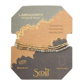 Scout Delicate Stone Necklace/Bracelet -labradorite/gold