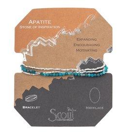 Scout Delicate Stone Necklace/Bracelet -apatite/silver