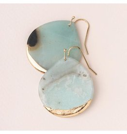 Scout Stone Dipped Earring- Amazonite/Gold