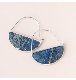 Scout Stone Prism Hoop Earring Lapis/Silver