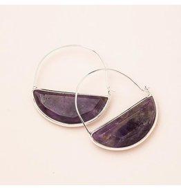 Scout Stone Prism Hoop Earring Amethyst/Silver