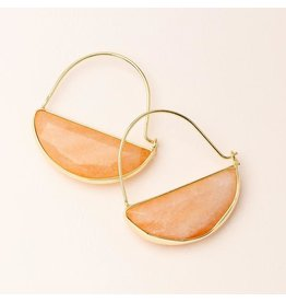 Scout Stone Prism Hoop Earring Sunstone/Gold