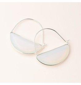 Scout Stone Prism Hoop Earring Opalite/Silver