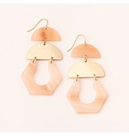 Scout Stone Cutout Earring- Sunstone/Gold