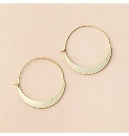 Scout Crescent Hoop- Vermeil Gold