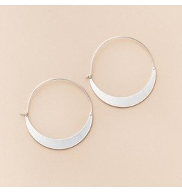 Scout Crescent Hoop- Sterling Silver