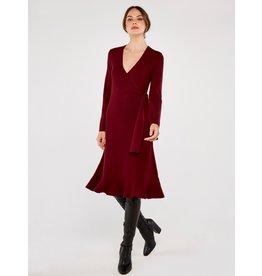 Apricot Jen- Knitted Wrap Dress
