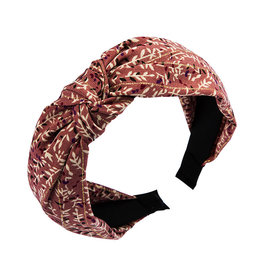 E&S Accessories Branch Patterned Hairband with Knot (More colours)