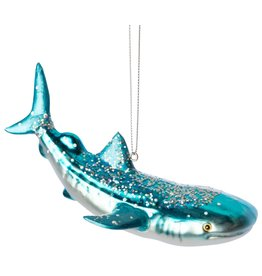 Option 2/ Silver Tree Ornament- Glass Shark