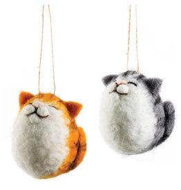 Option 2/ Silver Tree Cat Ornament