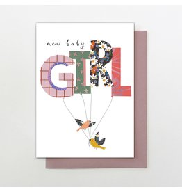 Stop The Clock Design Card-New Baby Girl